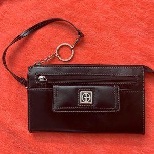 Giani Bernini Clutch Purse Wallet Handbag Leather